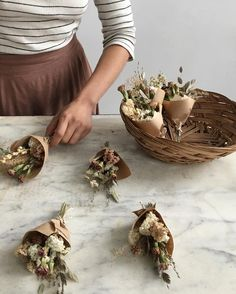 Diy Home : Mini dried bouquets that got sent out to Spain last Spring as a gift from a brid. Diy Home : Illustration Description Mini dried bouquets that got sent out to Spain last Spring as a gift from a bride to her maids.