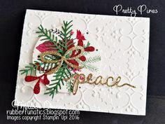 RubberFUNatics: CCMC Saturday Blog Hop - Traditional Christmas Colors
