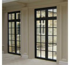 Standard Bronze doors are designed with a bead detail to complement our Advanced casements and are available as french doors or single openers Steel Windows, Casement Windows, Windows And Doors, Black Windows, Style At Home, Victoria House, Window Grill Design, Door Gate Design, Interior Windows