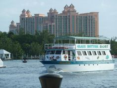 Nassau Bahamas.  View to Atlantis hotel on Paradise Island