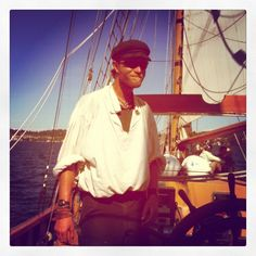 """Capt. James """"Shiney"""" McClurg is one of Hawaiian Chieftain's masters. #sailing #travel #ships http://historicalseaport.org"""