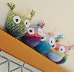 Earth Baby Crochet Toy - Choose Baby Toy Or Toy For Child - Pick Your Colors - Ombre - Rainbow Owl