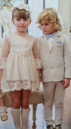 Conjuntos niño-a ceremonia Girls Dresses, Flower Girl Dresses, Cute Babies, Wedding Dresses, Baby, Fashion, Kids Fashion, Kid Outfits, Dresses Of Girls