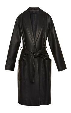 Bathrobe Style Wrap Coat With Tie Belt by Alexander Wang for Preorder on Moda Operandi