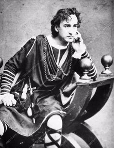 photo 19th century stage actor Edwin Booth portrait 1328-32