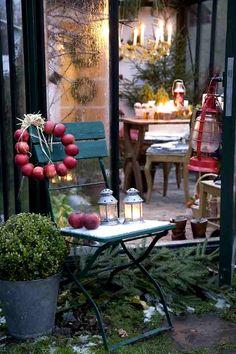 Decorated Winter Garden