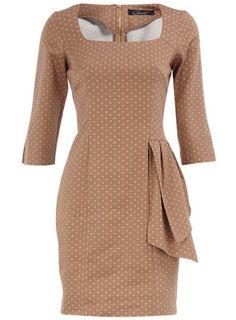 Beige polka dot dress. $89
