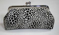Clutch Purse in Black animal print Leopard by ModDotTextiles, $35.00
