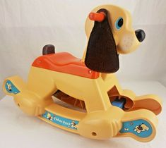 1983 Fisher Price Rocking Puppy Dog Ride On Rocker Retro Baby, Fisher Price, Wooden Toys, Dogs And Puppies, Childhood, Ebay, Wooden Toy Plans, Wood Toys, Infancy
