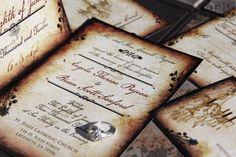 Vintage Romance wedding invitation set. Parchment and rose wedding invitations. Vintage chandelier wedding invitations by MyBigDayDesigns on Etsy https://www.etsy.com/listing/62288351/vintage-romance-wedding-invitation-set