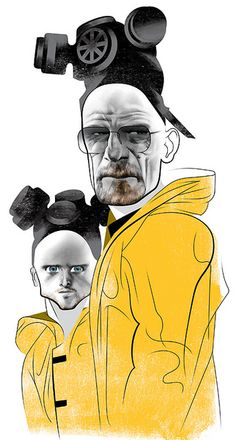 Breaking Bad (Bryan Cranston and Aaron Paul) by André Carrilho Berserk, Breaking Bad, Hero Tv, Celebrity Drawings, Celebrity Caricatures, Aaron Paul, Bryan Cranston, Black And White Portraits, Father And Son