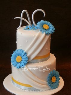 blue and yellow wedding cake ideas royal blue and yellow wedding cake maybe better 11969