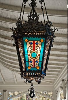 Ornate vintage porch lantern