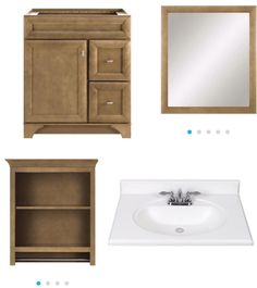 Photo Gallery For Website Diamond Fresh Fit Handbury Tuscan Poplar bathroom vanity mirror and cabinet All items