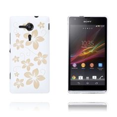 Flowers (White) Sony Xperia SP Case