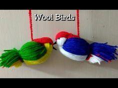 Woolen Bird craft/ Wall Hanging Idea