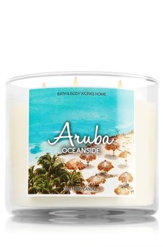Aruba - Oceanside 3-Wick Candle - Enjoy an instant escape to Aruba with sun-ripened citrus, warm sands & refreshing ocean air