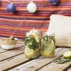 Klasse Idee: Anti Mücken Kerzen selber machen! Dafür braucht man: Glasgefäß, Zitrone, Limette, Rosmarin, Minze, Wasser, Zitroneneukalyptus-Öl (aus dem Bioladen), Teelichter