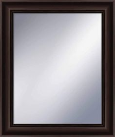 PTM Images 5-1253 26-3/4 Inch x 22-3/4 Inch Rectangular Framed Mirror Espresso Home Decor Mirrors Lighting