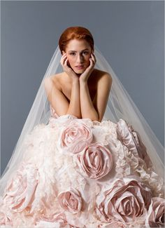 love....the color, the cut, the rosettes, the ruffles, the color..........WOW!!!!