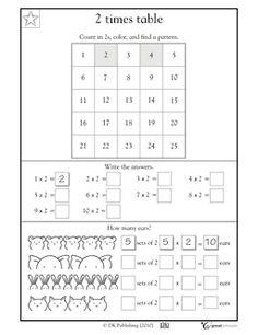 2 times tables - Worksheets & Activities   GreatSchools