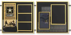 Uniformed Scrapbooks of America - 12 x 12 Page Kit - Army at Scrapbook.com $11.99