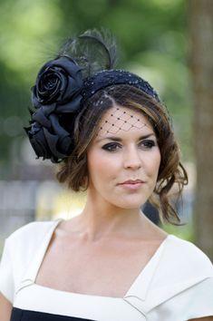 Danielle Lineker wearing a hat by Rachel Trevor Morgan. Royal Ascot 2012. #passion4hats