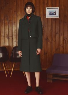 Navy Green Wool Skirt | FLOW THE LABEL | NOT JUST A LABEL