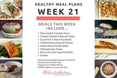 Healthy, low carb, and vegetarian meal plans with shopping lists, nutritional info, and Weight Watchers PP for under $1 per week!