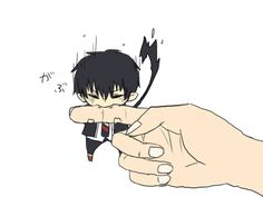 Ao no Exorcist / Blue Exorcist Chibi Rin - This is too cute! ><