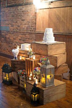 very pretty cotton warehouse wedding ceremony organic rustic atlanta