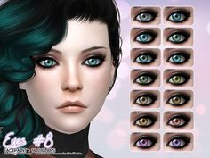 Sims 4 CC's - The Best: Lipstick & Eyes by Aveira