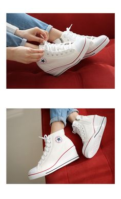 check out d2129 5ad45 If you Gangnam style ladies shoes  Korean shoes shoppingstyleberry Shoes  Wedge heel Canvas Sneakers Sneakers