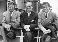 Joseph Kennedy with his sons Joe, Jr and Jack