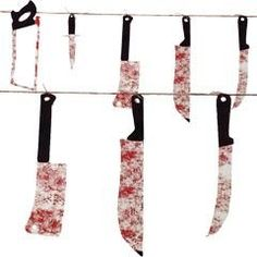Bloody Weapons Garland Decorations