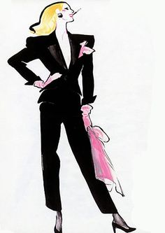 Rene Gruau for YSL. Repinned via ABE THE APE