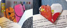 Origami Herz-Lesezeichen
