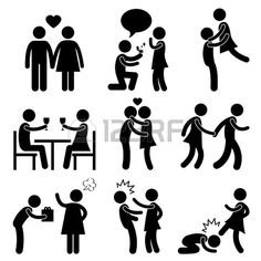 Pareja Amante Amor Boda Matrimonio Propuesta Abrazo rom ntico beso Kick Holding Regalo Hand Slap Ang Foto de archivo