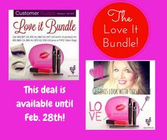 Love it Bundle Available until Feb. 28th!  Great Deal!  3D Fiberlash Mascara, Lip Gloss, Eyeliner and FREE make Up Bag!  https://www.youniqueproducts.com/CaitlinConroy/