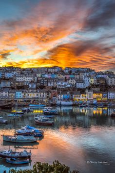 Brixham Sunset (Devon, England) by Christian Iversen on England Top, England Ireland, Devon England, Yorkshire England, England And Scotland, Oxford England, Cornwall England, Yorkshire Dales, London England