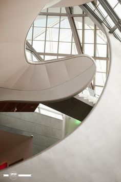 Interesting shapes that form the stairwell at the Art Gallery of Alberta http://www.youraga.ca/ Image by FO Photography.