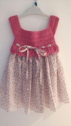 Vestido cuerpo crochet