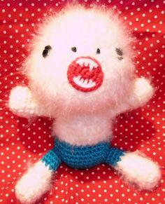super scary yeti - amigurumi crochet pattern - PDF