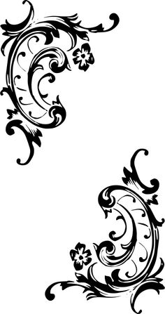 Simple baroque pattern (black-white) by drgraf