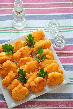 Greek Recipes, Fish Recipes, Recipies, Fish Dishes, Finger Foods, Seafood, Food And Drink, Appetizers, Cooking Recipes