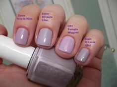 Hello! TGIF!!! I couldn't be happier that today is Friday. I have a comparison post for you today, which was inspired by Essie's 'St Lucia L...