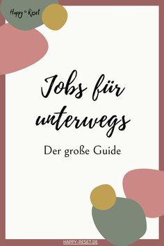 Reisen und dabei Geld verdienen? Diese Jobs erlauben dir ortsunabhängig zu arbeiten und als digitaler Nomade zu leben. Blog, Make Money On Internet, New Start, Freedom, Viajes, Tips, Ideas, Blogging