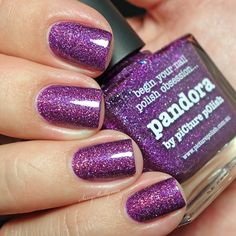 piCture pOlish Pandora - holographic purple nail polish - swatch by Sassy Shelly