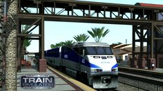 Train Simulator Pacific Surfliner   Locomotive F59PHi Amtrak   Conducir el Surf  Parte 2 Racing Wheel : Thrustmaster T500RS  Shift TH8R  The Pacific Surfliner is a 350-mile (560 km) passenger train operated by Amtrak with funding from the California Department of Transportation as part of the Amtrak California network. The Pacific Surfliner serves the communities on the coast of Southern California between San Diego and San Luis Obispo.  The service carried over 2.7 million passengers during…