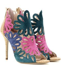 Oscar de la Renta Jeralina Suede Sandals For Spring-Summer 2017